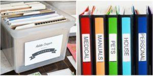 Как удобнее хранить документы. Как организовать хранение домашних документов