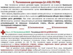 Буквальное толкование договора ст 431. Существующие правила судебного толкования условий договора