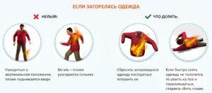 Что делать на загорелась одежда. Что делать, если на человеке загорелась одежда