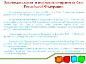 Отчет 1 кср краткая. Законодательная база российской федерации