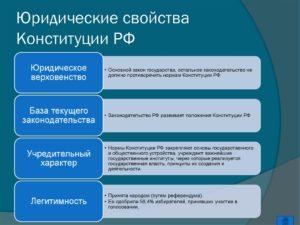 Прямое действие норм конституции означает. Юридические свойства Конституции РФ