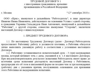 Трудовой договор с торговым представителем. Договор с региональным представителем