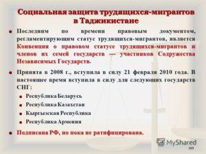 Правовой статус трудящихся мигрантов. Правовой статус мигрантов в российской федерации и за рубежом
