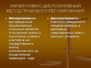 Почему в гражданском праве диспозитивный метод. Диспозитивный метод правового регулирования: определение, пример