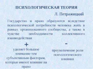 Психологическая теория права: плюсы и минусы. Теории происхождения государства
