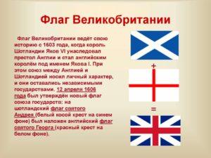 Кратко о флаге великобритании. Великобритания
