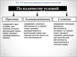 Гипотеза правовой нормы содержит. Виды гипотез норм права, их краткая характеристика и примеры