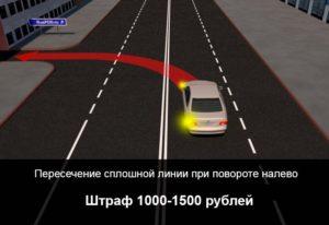 Что означает желтая дорожная разметка. Штраф за пересечение сплошной линии разметки
