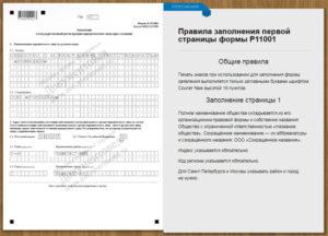 Заполнение листа н формы р11001. Заполняем форму р11001