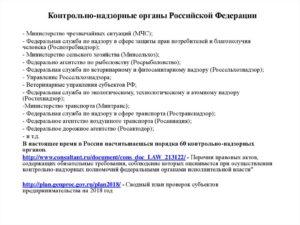 Виды и функции контроля. Контрольно-надзорные органы РФ: список, права, полномочия и особенности