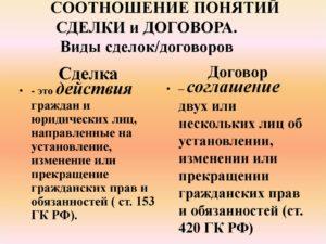 Отличие сделки от договора в гражданском праве. Отличие договора от сделки, виды договоров