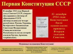 Когда была принята 1 ая конституция ссср. Принятие первой советской конституции россии