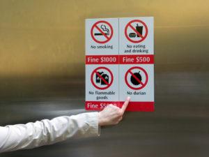Наказания в сингапуре. Штрафы за мусор в сингапуре