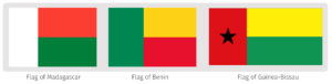 Черный желтый красный флаг какой страны вертикально. Бело-красно-зеленый флаг