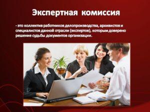 Кто может создавать экспертную комиссию в организации. Экспертная комиссия организации и экспертиза ценности документов