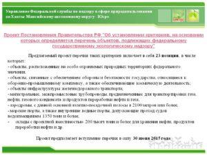 Объекты подлежащие федеральному государственному экологическому надзору. Критерии, на основании которых определяется перечень объектов, подлежащих федеральному государственному экологическому надзору