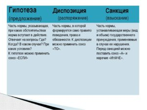 Определяем гипотезу диспозицию и санкцию