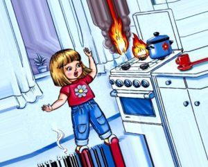 Рисунок на тему безопасность в быту. Картинки пожарная безопасность детям
