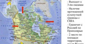 Транспортно географическое положение канады. География Канады, Карта Канады, экономико-географическое положение Канады